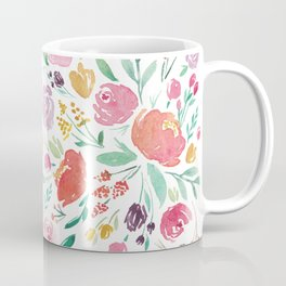 Peony Roses and Floral blooms Coffee Mug
