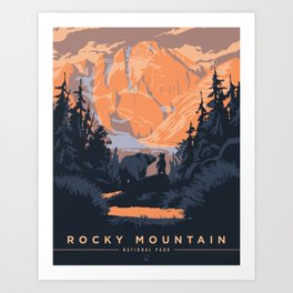 Rocky Mountain National Park Poster Art Print