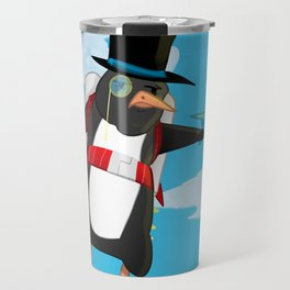 Professor Jetpack Penguin. Esquire.  Travel Mug