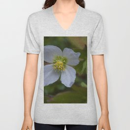 Floral Print 096 Unisex V-Neck