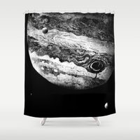 minions Shower Curtains featuring Jupiter & 3 Minions by Dushan Milic