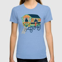 Gypsy Wagon Pattern T-shirt
