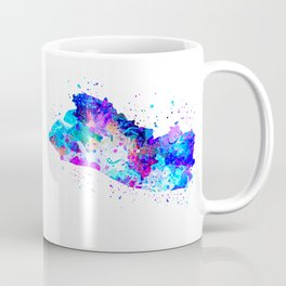 El Salvador Watercolor Map Coffee Mug