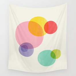 Rainbow Bubbles Wall Tapestry
