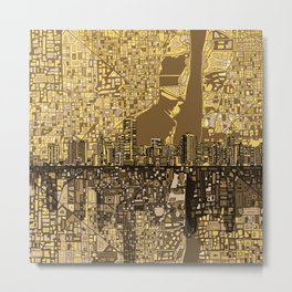 miami city skyline Metal Print