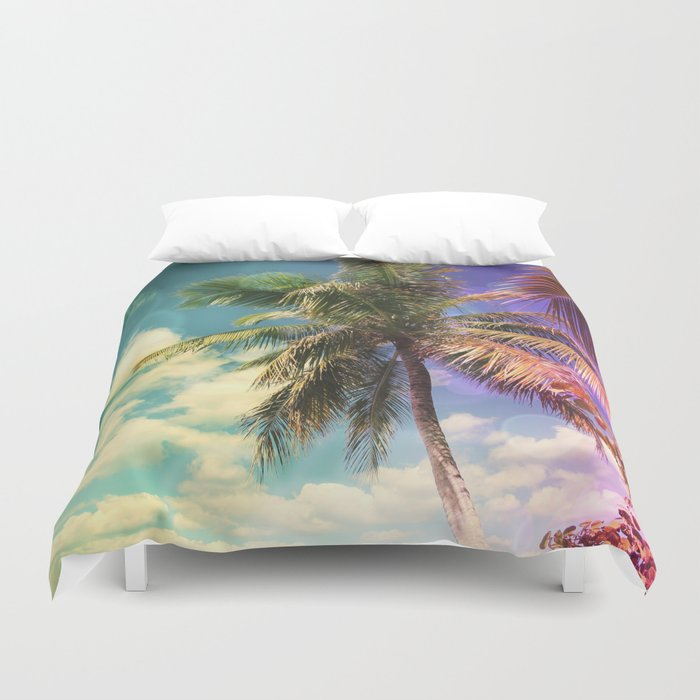 Prismatic Palm Duvet Cover by Christine aka stine1