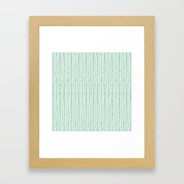 Knit Wave Mint Framed Art Print