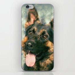 Working German Shepherd Dog GSD -  Watercolor iPhone Skin