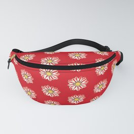 African Daisy / Gazania - Red and White Striped Fanny Pack
