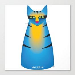 milk bottle cat : Terry Canvas Print