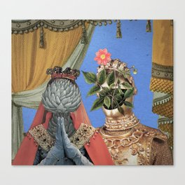 Queen Artichoke and King Flower Pot Canvas Print