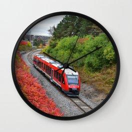 red train Wall Clock