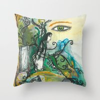 snape Throw Pillows featuring Soul of Snape by Springfae