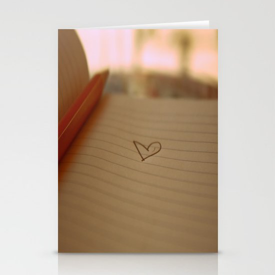 hearts .  Stationery Cards