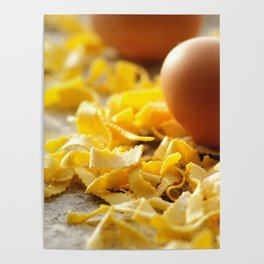 Fresh italian Pasta with egg Poster