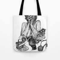 vogue Tote Bags featuring Vogue by [ g ]