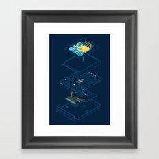Blueprint Waka-Waka Framed Art Print