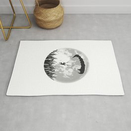 Paragliding Full Moon Rug