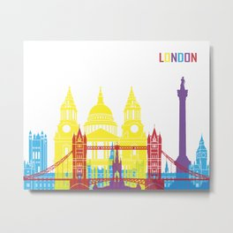 London skyline pop Metal Print