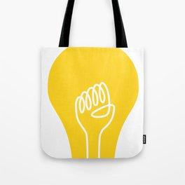 THE IDEA - cool art poster, Light, Scandinavian, Illustration, Fine Art, Cute Quirky Gift Tote Bag