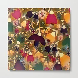 Floral Mixup Metal Print