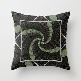 Spiralling Water Lilies Throw Pillow