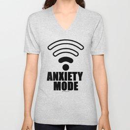 Anxiety mode Unisex V-Neck