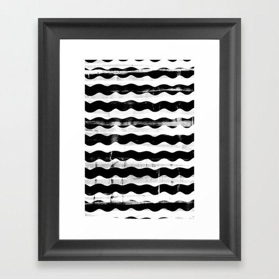 Black Waves Framed Art Print
