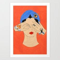 Insects & Turban Art Print