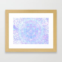 Pointillistic Phosphenes Organizing as the DMT Takes Hold Framed Art Print