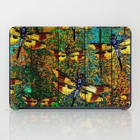 dragonfly iPad Cases featuring Dragonfly  by Saundra Myles
