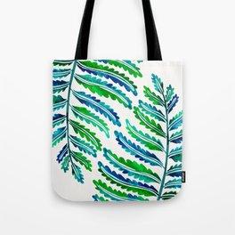 Fern Leaf – Blue & Green Palette Tote Bag