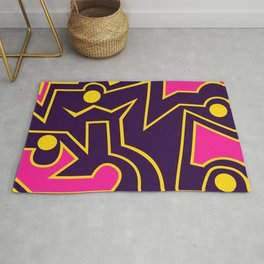 Lines and Curves World Rug