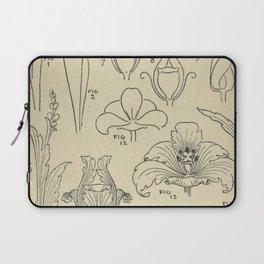 Flower Anatomy Laptop Sleeve