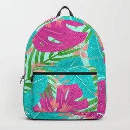 Boho Tropical Leaves Backpack