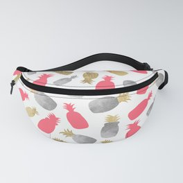 Tropical pink gold silver elegant pineapple pattern Fanny Pack