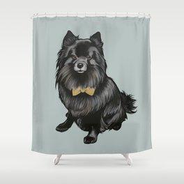 Ozzy the Pomeranian Mix Shower Curtain