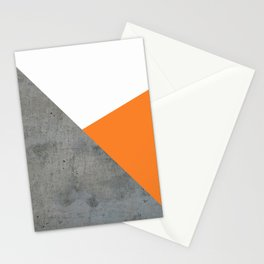 Concrete Tangerine White Stationery Cards