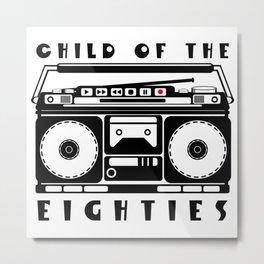 Eighties Music Metal Print