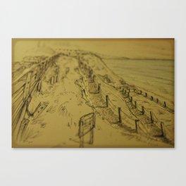 Beacons Sketch Canvas Print