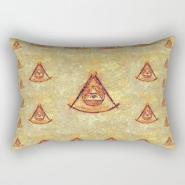Freemason Symbolism Rectangular Pillow