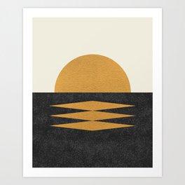 Sunset Geometric Art Print