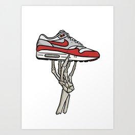 Air Max 1 Skeleton Sneaker Art Art Print