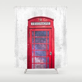 Telephone Box Portal London England Shower Curtain