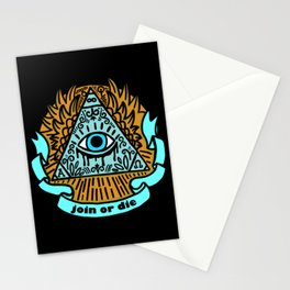 Illuminati Join or Die Stationery Cards