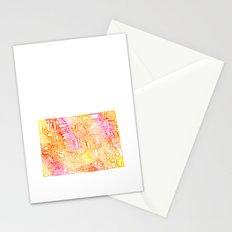 Typographic Colorado - orange watercolor Stationery Cards