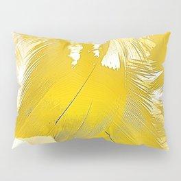 Golden Feathers Pillow Sham