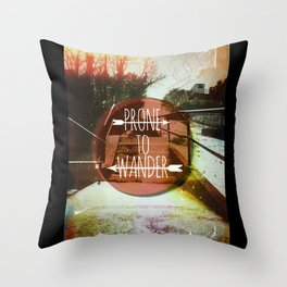 Prone To Wander Throw Pillow