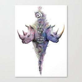 Save Rhinos Canvas Print