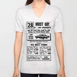 Vintage Camaro Add Unisex V-Neck